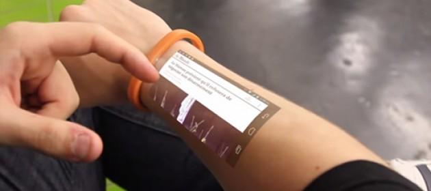 Cicret ile telefonunuzu kolunuzdan kontrol edebilirsiniz